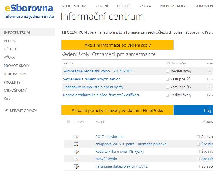 eSborovna - Informační centrum